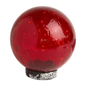 "8"" Hand-Blown Glass Solar Gazing Ball"