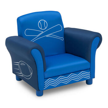 Sports Theme Blue Upholstered Children's Chair view 3