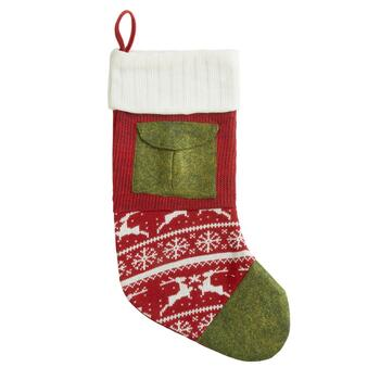 Red and Green Patchwork Stocking