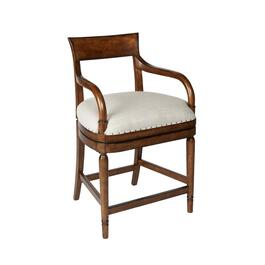 Avery Upholstered Swiveling Counter Chair