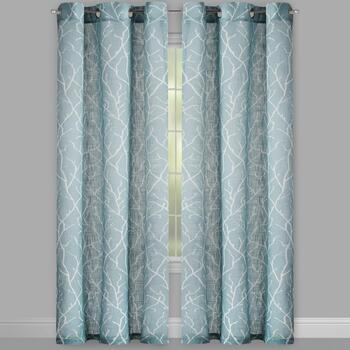 Milo Branch Grommet Window Curtains, Set of 2 view 2