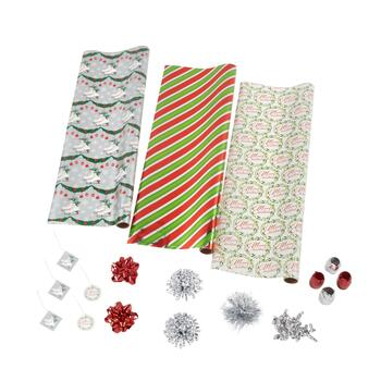 Stripes and Ice Skates Executive Wrapping Paper Kit