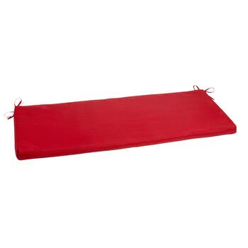 Solid Red Indoor/Outdoor Bench Seat Pad