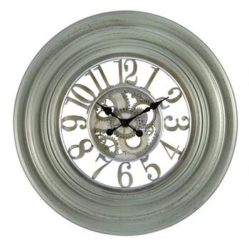 "30"" Sage/Champagne Exposed Gears Wall Clock"