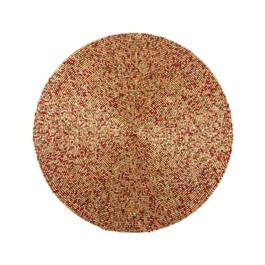 Red/Gold Beaded Round Placemat