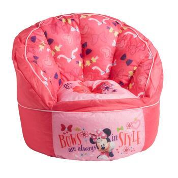 Awe Inspiring Disney Minnie Mouse Kids Beanbag Chair Creativecarmelina Interior Chair Design Creativecarmelinacom