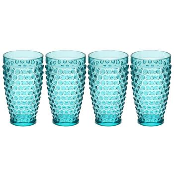 Hobnail Melamine Cooler Glasses, Set of 4