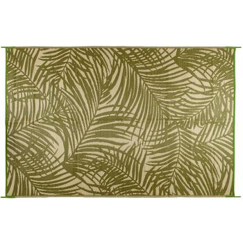 Fern Green Palm Reversible All-Weather Patio Mat