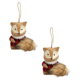 Winter Sweater Fox Ornaments, Set of 2 view 1