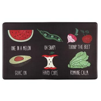"18""x30"" Vegetable Jokes Cushioned Floor Mat"