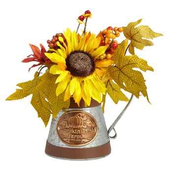 Sunflowers Metal Watering Can