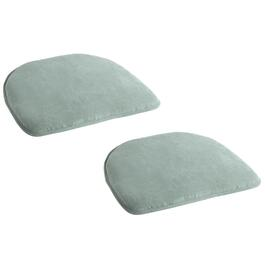 "15.75""x17.25"" Solid Green Chair Pads, Set of 2"