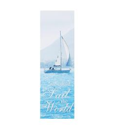 "12""x36"" ""Sail the World"" Coastal Indoor/Outdoor Wall Decor"