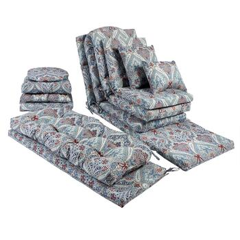 Paisley Blue All-Weather Chair Cushions Collection