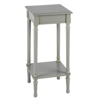 "28.25"" Hourglass Legs Square Accent Table"