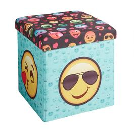 Emoji Faces Folding Ottoman