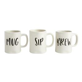 "The Grainhouse™ ""Mug Sip Brew"", Set of 3"