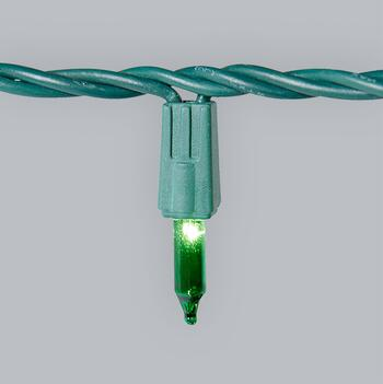 22' Green Bulb Indoor/Outdoor Mini String Lights, Set of 2 view 2