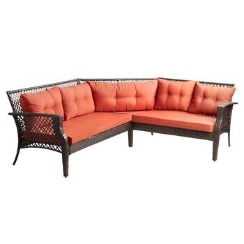 Carly Cushion Sectional Patio Sofa