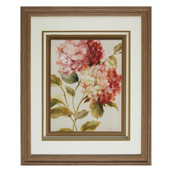 "18""x22"" Pink Flowers Fillet Framed Wall Art"