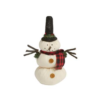 "10"" Glitter Top Hat Snowman Decor"