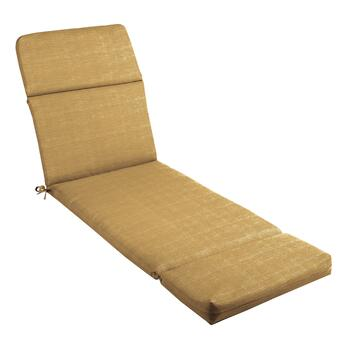 Solid Brown Indoor/Outdoor Hinged Chaise Chair Pad