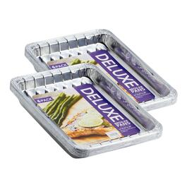 6-Pack Aluminum Deluxe Broiler Pans, Set of 2