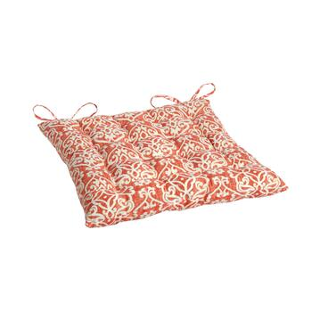 Damask Indoor/Outdoor Tufted Seat Pad