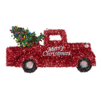 "38"" ""Merry Christmas"" Tinsel Truck Wall Decor view 1"