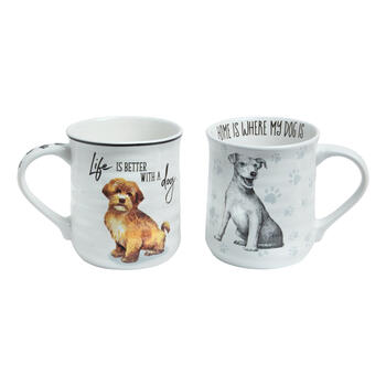 """Life is Better with a Dog"" Mugs Set view 1"