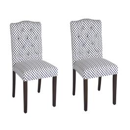 Sahara Tufted Upholstered Chairs, Set of 2