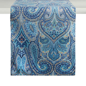 Waverly® Blue Paisley Table Runner view 1