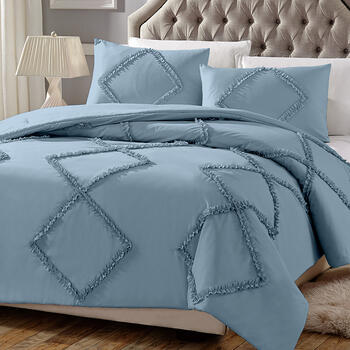Solid Ruffled Diamonds Comforter Set view 1