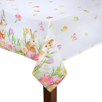 Flower Bunnies Tablecloth view 1