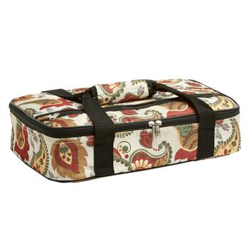 Paisley Pattern Insulated Casserole Carrier
