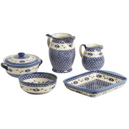 Polish Pottery Floral Chain Dinnerware