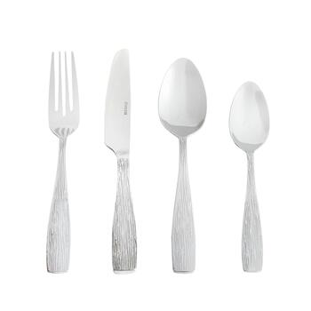 Stamped Twig Stainless Steel Flatware Set, 16-Piece