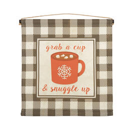 "24"" ""Grab a Cup & Snuggle Up"" Tapestry Wall Decor view 1"