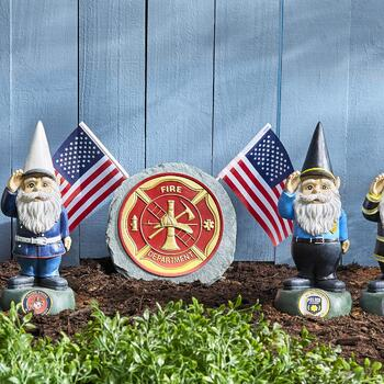 Military, Police, Firefighter Gnomes & Outdoor Decorations