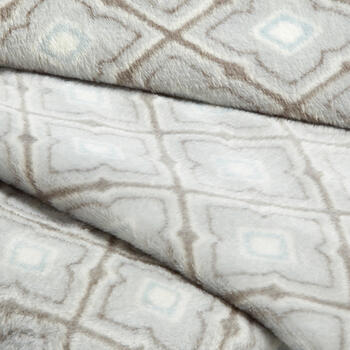 Gray Moroccan Pattern Velvety Throw view 2