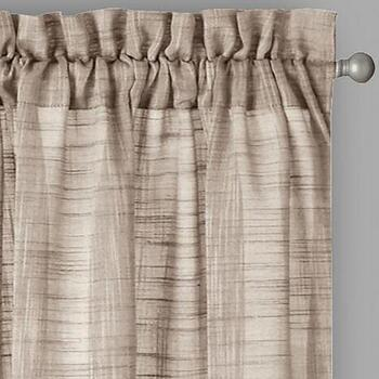 Country Solid Rod Pocket Window Curtains, Set of 2