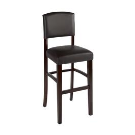 Solid Black Upholstered Barstool