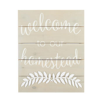 "16""x20"" The Grainhouse™ ""Welcome"" Cutout Wooden Wall Decor view 1"