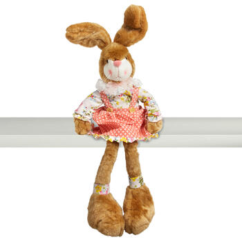 "28"" Plush Big Feet Bunny Girl Ledge Sitter view 1"