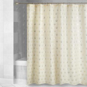 Caribbean Joe Gold Shells Shower Curtain
