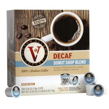 Victor Allen's® Donut Shop Decaf Coffee Pods, 200-Count