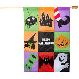 "28""x40"" ""Happy Halloween"" Applique Yard Flag"