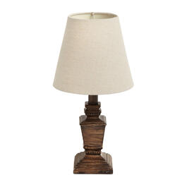 "The Grainhouse™ 15"" Weathered Brown Antique Accent Lamp view 1"