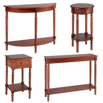 Dark Cherry Accent Table Collection