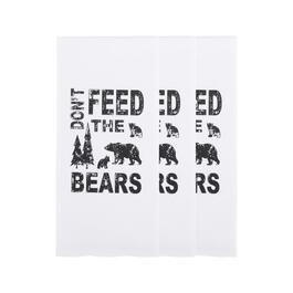"""Don't Feed the Bears"" Cotton Hand Towels, Set of 3"